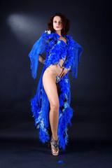 modern strip dancer