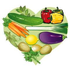 Gemüse-Herz