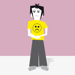 isolated emo boy vector illustration cartoon