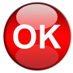 Bottone OK Rosso