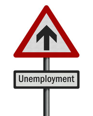 Political issue: unemployment increase concept. Photo realistic