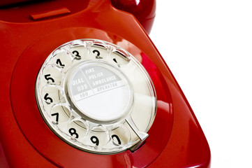 1970's red telephone
