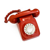 classic red telephone