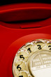 Red dial telephone