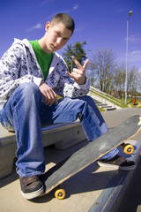 Teenage skateboarder conceptual image.