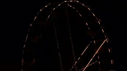 Ferris wheel at night V1 - HD
