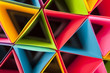 Quadro Colorful Stacked Triangles