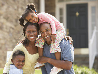 Portrait of African American family
