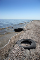 Two Discarded Tires