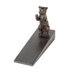 Dark Brass Metal Sitting Cat Door Stopper