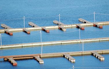Empty river pier on Dnieper,  river, Kiev, Ukraine