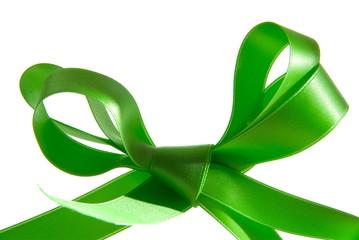 Schleife in grün. Sample text