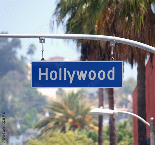 Fotobehang Los Angeles Hollywood Bl Sign