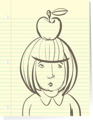 Sad Little Girl Student