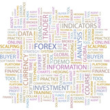 FOREX. Wordcloud illustration. poster