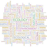 ECOLOGY. Illustration with association terms. poster