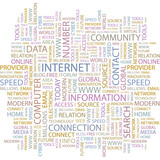 INTERNET. Illustration with different association terms. poster
