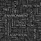 ENVIRONMENT. Seamless vector pattern with word cloud. poster