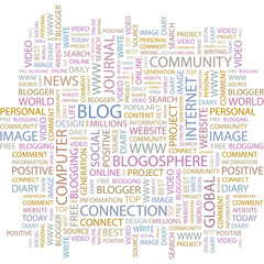 BLOG. Word collage on white background.