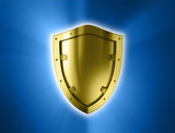 Gold shield.
