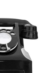 vintage black telephone close up