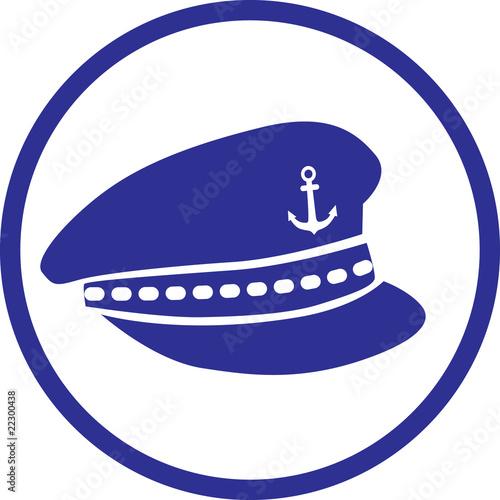 """Captains Hat Icon   Kapitänsmütze"" Stock image and ... Captain Hat Vector"
