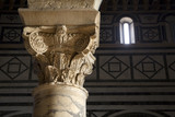 Florence church - Corint capital from San Miniato al Monte