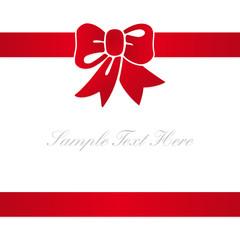 tarjetade regalo lazo rojo