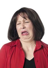 jeune femme en pleurs chagrin