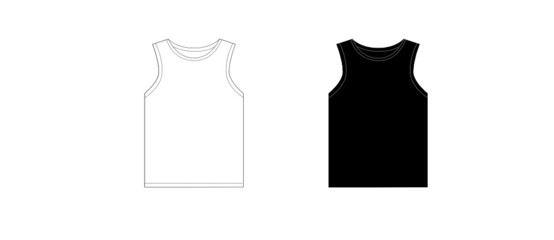 Black and white man T-shirt design template