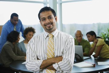 Multi-ethnic business people in meeting