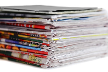 stack of newspaper