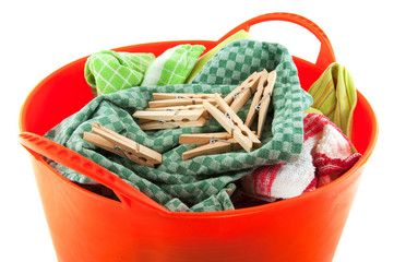 Laundry and clothes pins