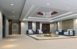 3d reception room rendering. meeting room