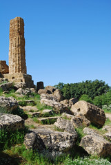 Greek ruins in the Valley of Temples in Agrigento, Sicily