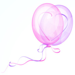 Shiny Heart Balloons