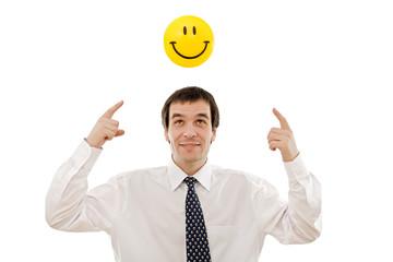 Businessman thinking positive