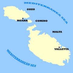 Maltese Islands map