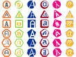Letter A Icons Badges and Tags