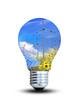 Lampe mit erneuerbaren Energien