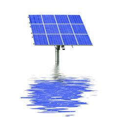 Solar im Wasser gespiegelt