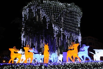 LED tree with animal figures