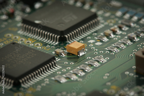 chips on circuit board