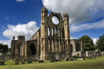 Elgin Cathedral Ruins & churchyard