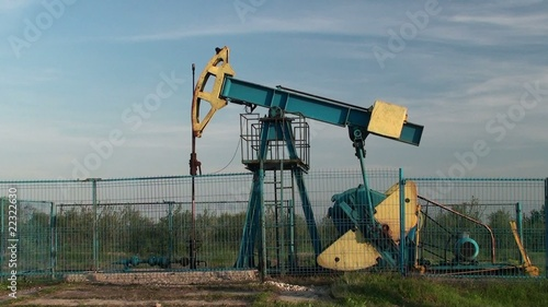An oil pump jack in action