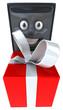 Ordinateur et cadeau