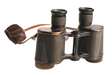intage Soviet army binocular isolated with cliping path