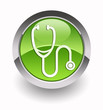 ''Stethoscope'' glossy icon