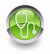 ''Stethoscope'' glossy icon
