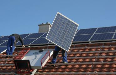 New solar paneels, mounting